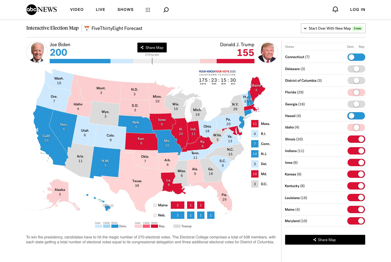 Branded Map – Desktop