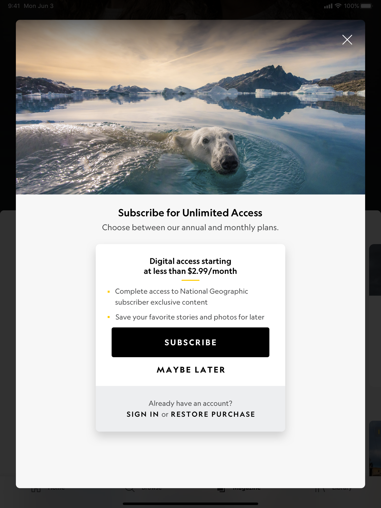 Paywall – Generic – Guest – Example 1 (Light Mode) Portrait