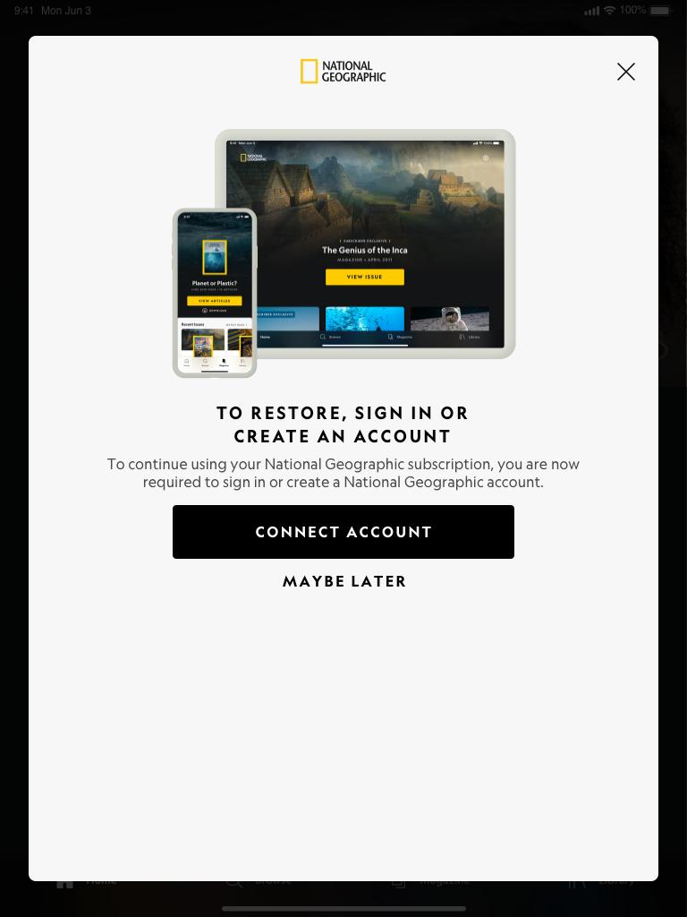 Paywall – Link Subscription – Restore (Light Mode) Portrait